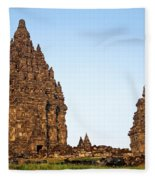 Prambanan Temple In Indonesia Fleece Blanket