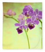 Purple Orchid-8 Fleece Blanket