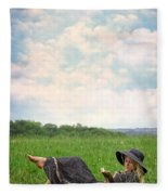 Reading Fleece Blanket