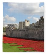 Remembrance Poppies At Tower Of London Fleece Blanket