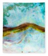 Shiny Nacre Of Paua Or Abalone Shell Background Fleece Blanket