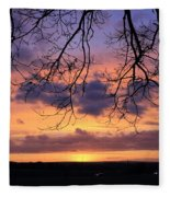 Spectacular Sunset Epsom Downs Surrey Uk Fleece Blanket
