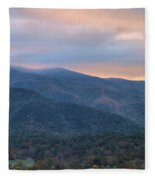 Sunrise In Cades Cove Fleece Blanket