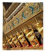 Temple In Grand Palace Bangkok Thailand Fleece Blanket