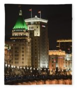 The Bund, Shanghai Fleece Blanket