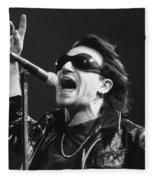 U2 - Bono Fleece Blanket