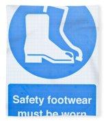 Warning Sign Fleece Blanket