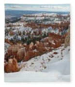 Winter Scene, Bryce Canyon National Park Fleece Blanket