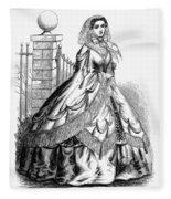 Women's Fashion, 1860 Fleece Blanket