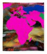 World Map And Human Life Fleece Blanket