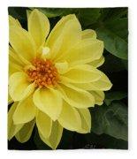 Yellow Dahlia Fleece Blanket
