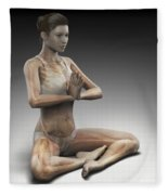 Yoga Meditation Pose Fleece Blanket