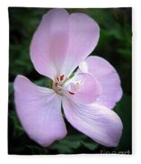Zonal Geranium Named Tango Light Orchid Fleece Blanket