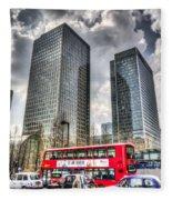 Canary Wharf London Fleece Blanket