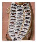 50 Fish From American Waters Fleece Blanket