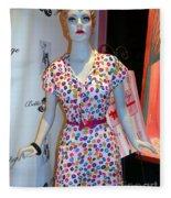 50's Fashion Fleece Blanket
