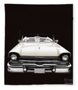 50s Ford Fairlane Convertible Fleece Blanket