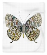 51 Lang's Short-tailed Blue Butterfly Fleece Blanket