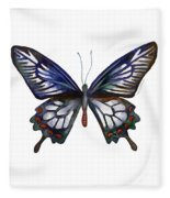 54 Ceylon Rose Butterfly Fleece Blanket