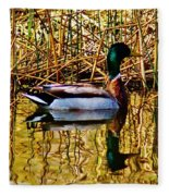 5.4.2014 Wild Mallard Fleece Blanket
