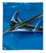 55 Chevrolet Hood Ornament Fleece Blanket