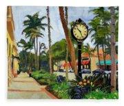 5th Avenue Naples Florida Fleece Blanket