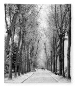 Pere-lachais Cemetery In Paris France Fleece Blanket