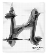 Abstract Series I Fleece Blanket