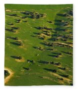 Aerial Geometries Fleece Blanket
