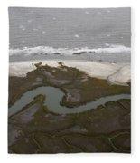 Aerial Near Jekyll Island Fleece Blanket