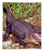 American Alligator Fleece Blanket