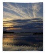 An Outer Banks Of North Carolina Sunset Fleece Blanket