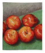 6 Apples Washed And Waiting Fleece Blanket