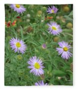 6 Asters Left Fleece Blanket