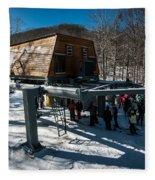 At The Ski Resort Fleece Blanket