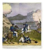 Battle Of Monterrey, 1846 Fleece Blanket