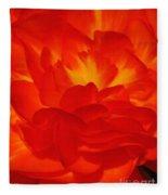 Begonia Named Nonstop Apricot Fleece Blanket
