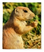 Black-tailed Prairie Dog Fleece Blanket