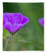 Bloody Geranium Wild Flower Fleece Blanket