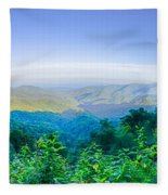 Blue Ridge Parkway National Park Sunset Scenic Mountains Summer  Fleece Blanket