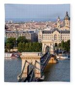 Budapest Cityscape Fleece Blanket