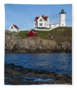 Cape Neddick Lighthouse Fleece Blanket