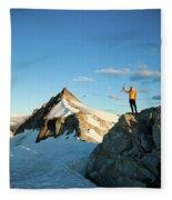 Climbing Cypress Peak Fleece Blanket