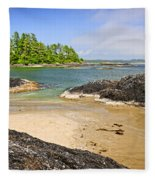 Coast Of Pacific Ocean On Vancouver Island Fleece Blanket
