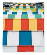 Colorful Roofs Fleece Blanket