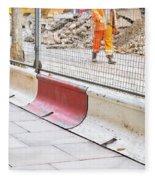 Construction Site Fleece Blanket