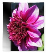 Dahlia Named Blue Bayou Fleece Blanket