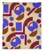 Design From Nouvelles Compositions Decoratives Fleece Blanket