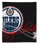 Edmonton Oilers Fleece Blanket