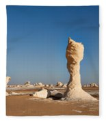 Egytians White Desert Fleece Blanket